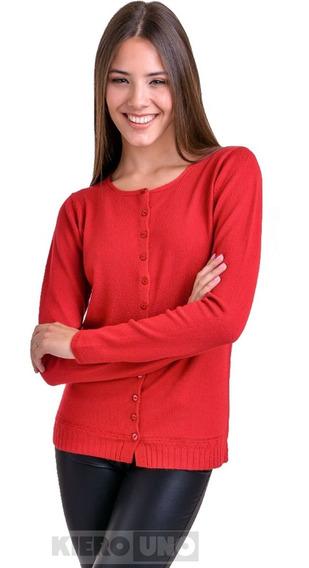 Cárdigan Mujer Saco C/ Botones Sweater Hermoso Lana Kierouno