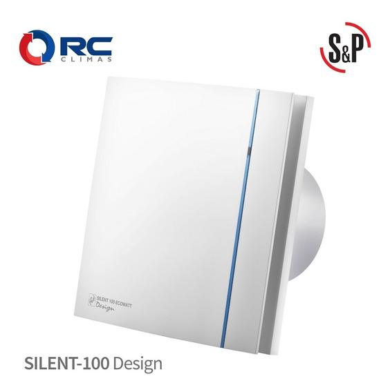 Extractor Silencioso Para Baño 4 Pulg. Silent-100 Design S&p