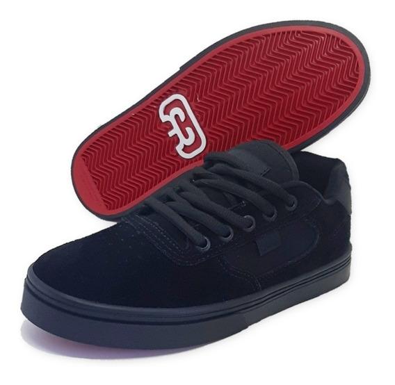 Tênis Skate Hocks Flat Lite Black Preto Original
