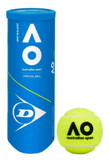 Tubo Pelotas Dunlop Australian Open X 3 Balls Tenis - Olivos