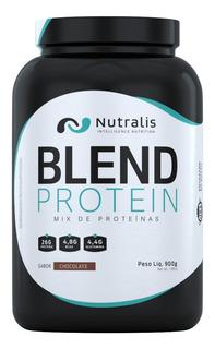 Blend Whey Protein 900g Morango - Nutralis