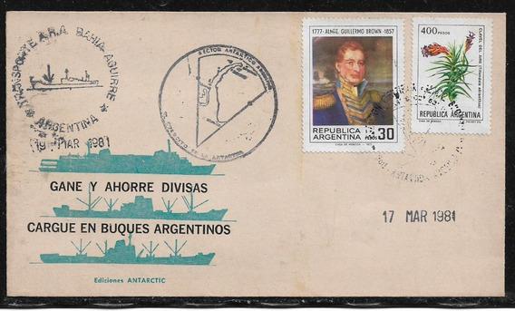 Antártida Argentina Ahorre Divisas Argentinas - Sobre Color