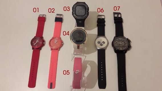 Kit 7 Relógios Masculinos E Femininos (leia O Anúncio)