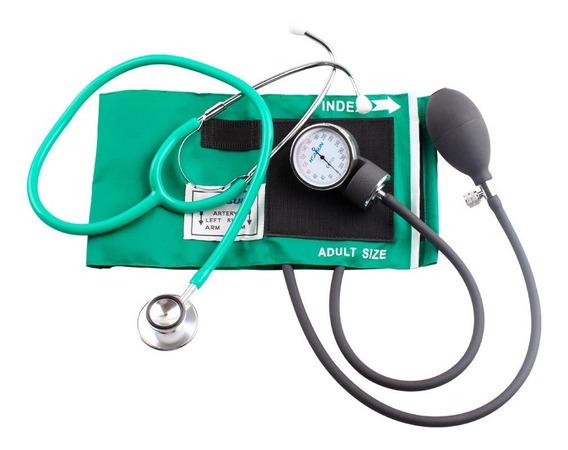 Baumanómetro Aneroide Kit Con Estetoscopio De Doble