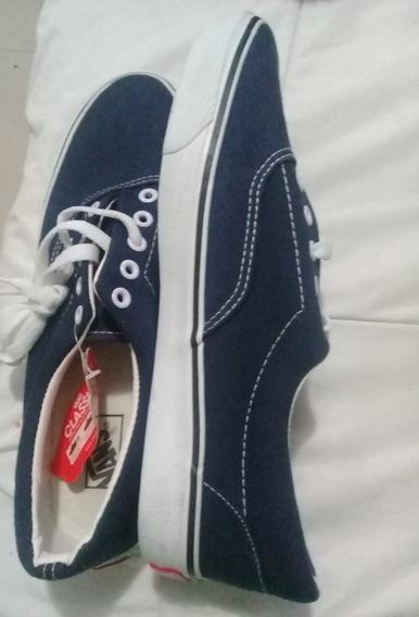 Zapatos Tipo Vans Classic Talla 44 Azul Navy Hombre