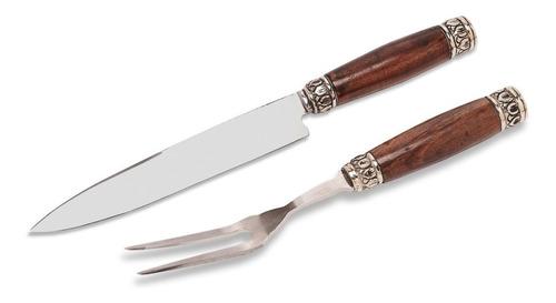 Imagen 1 de 7 de Juego Asado Real   Cuchillo Y Tenedor Para Parrilla