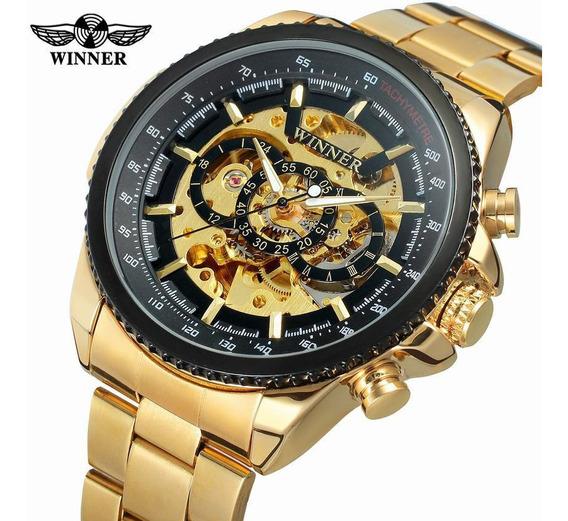 Relógio Masculino De Luxo Winner 0352