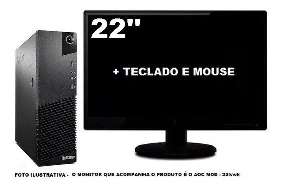 Lenovo Thinkcentre M83 Core I3 4ger 8gb 120ssd - Semi Novo