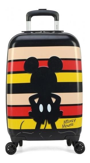 Mala Viagem De Bordo Com Rodinhas Mickey Mouse Shadow Luxcel