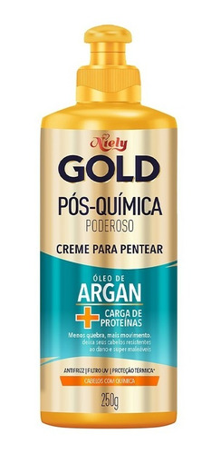 Niely Gold Creme Para Pentear Óleo De Argan Pós Química
