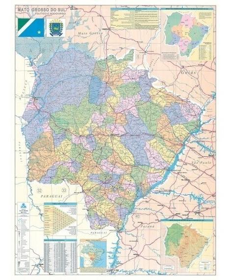 Mapa Politico Do Estado De Mato Grosso Do Sul