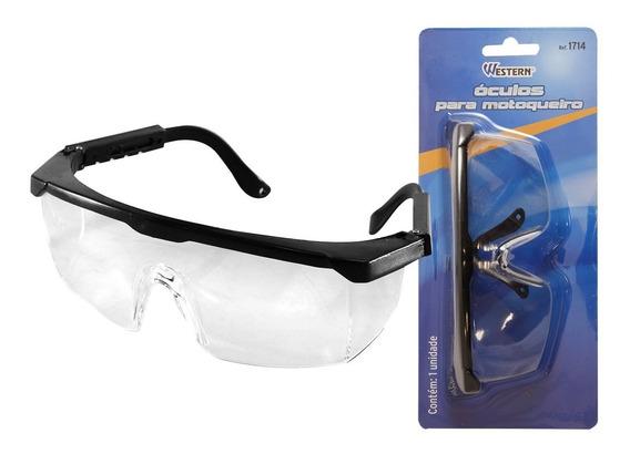 Óculos De Proteção Motoqueiro Motoboy Hastes Articuladas