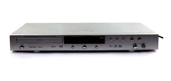 Dvd Player Denver Dvd-172 Bivolt Prata Sem Controle A9021