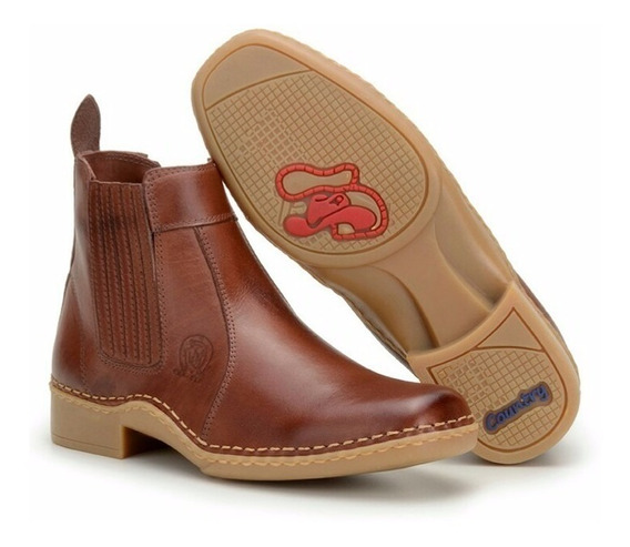 Bota Country Masculina Boots Couro Legitimo