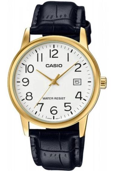 Relógio Analogo Casio Mtpv002gl-7b2udf Couro