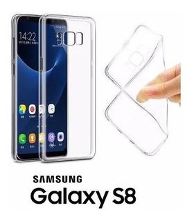 Capa Slim Ultra Fina Galaxy S8 + Pelicula Verso Gel