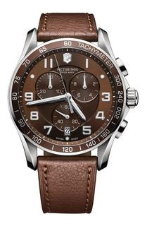Reloj Victorinox 241498 Chrono Classic Cuero Agente Oficial