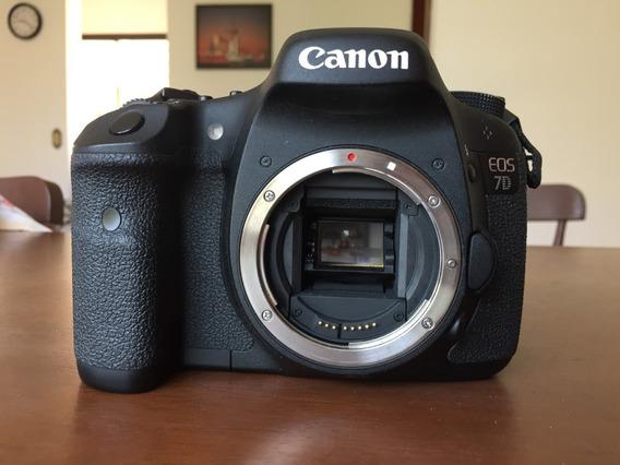 Canon 7d + Cartão 32gb + Leitor Cf (c/ Bateria E Carregador)