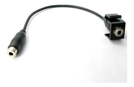 Keystone Conexão P2 Com Rabicho 10cm (preto) Kit 6 Unidades