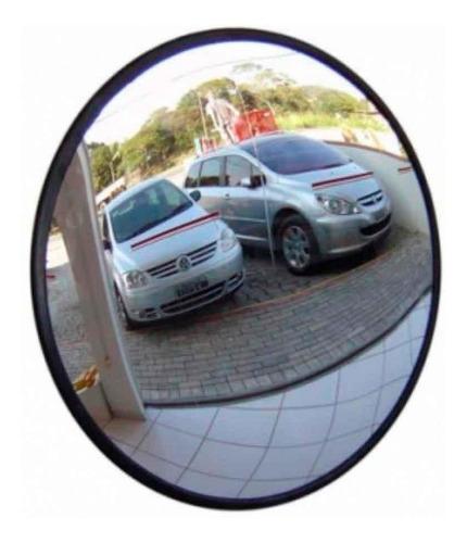 Espelho Convexo De 50cm Com Borda De Borracha Ligação
