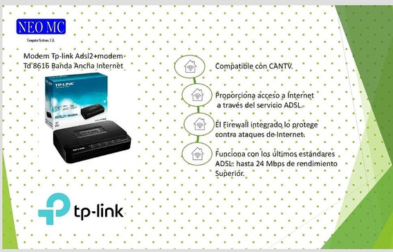 Modem Tp-link Adsl2 Td-8616 Banda Ancha Red Internet