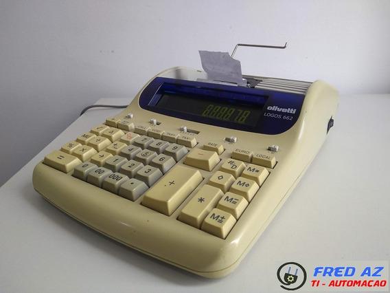 Maquina De Calcular Eletrica Olivetti Logos 662