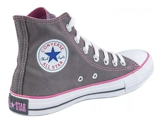 converse grises mujer altas