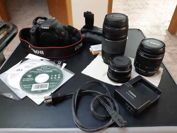 Camera Canon Completa + Acessórios