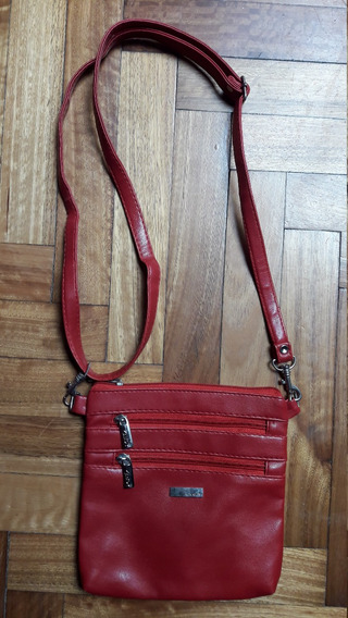 Cartera / Bandolera Color Rojo. Marca Candy.