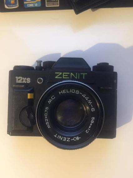 Máquina Fotográfica Antiga Zenit 12 Xs Com Capa