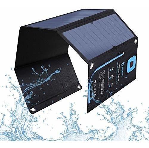 Cargador Solar Bigblue 5v 28w Con Amperimetro Digital, Panel