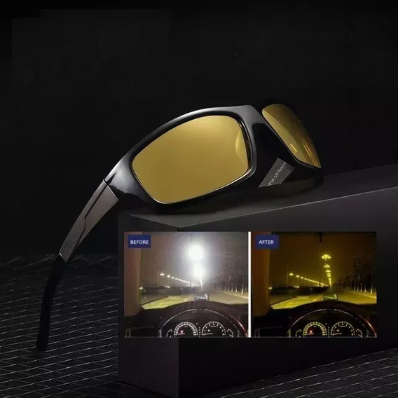 Óculos Sol Polarizado Visão Noturna Dirigir Noite Luxo