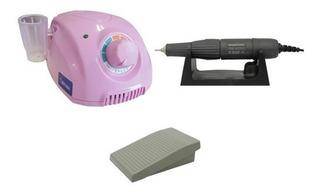 Micro Motor Marathon Para Manicure E Podologia Rosa