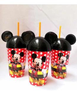 Sorpresas Infantiles Vaso Pitillo Mickey Y Minnie Mouse