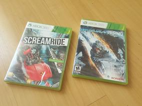 Jogo Xbox 360 Metal Gear Rising + Screamride Novo Lacrado