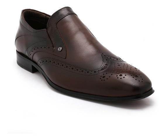 Sapato Oxford Jota Pe Couro Dark Brown 50109