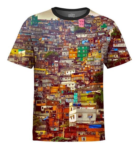 Camiseta Masculina Favela Rio De Janeiro Digital Md01