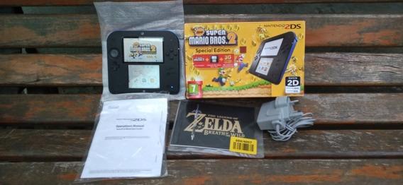 Nintendo 2ds Super Mario Bros 2 Caixa E Manual Europeu