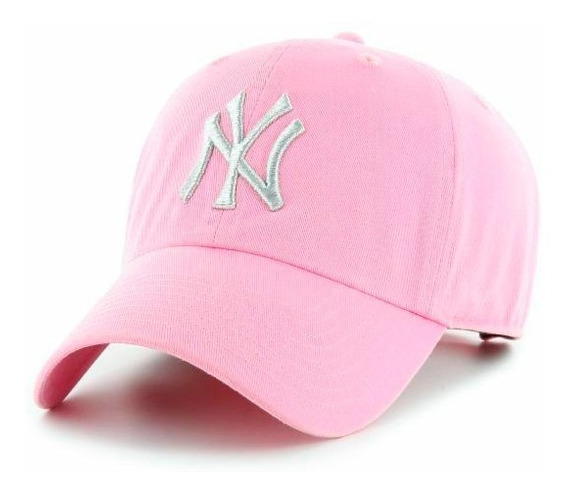 Gorra Rosa New York Gabardina Bordada Ny Gorra New York