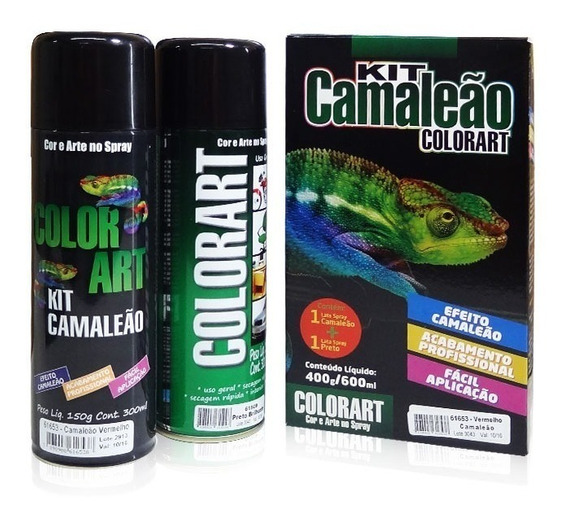 Kit Tinta Spray Camaleão ( Spray Primer + Spray Efeito )