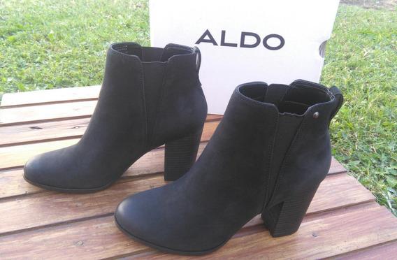 Botas Aldo Taco 39 Importadas Botinetas Negro Caña Corta
