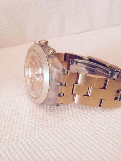 Relógio Swatch Dourado Modelo Full Blooded (pouco Uso)