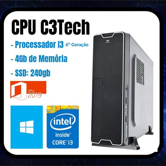 Cpu, Processador I3, 4gb De Memória E Ssd 240gb!