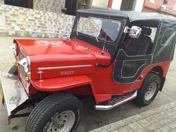 Jeep Willys Rojo Modelo 1959 Motor Kia 2.7 Diesel