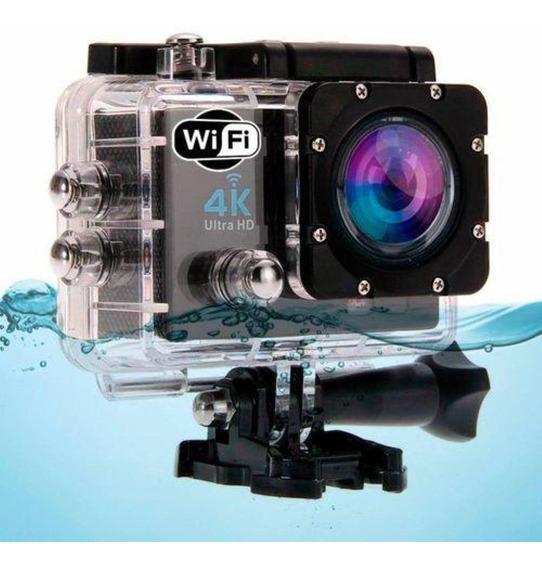 Câmera Action Cam Wifi Capacete Esporte Mergulho Hd 4k