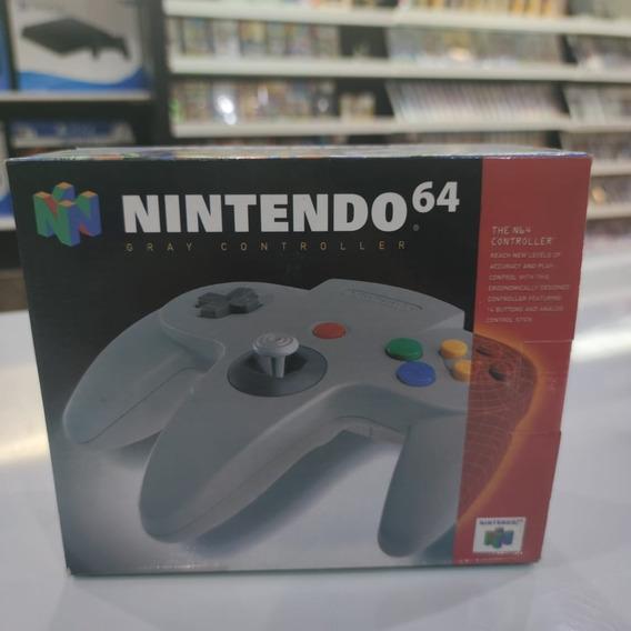 Controle N64 Nintendo 64 Cinza Original Na Caixa Impecável