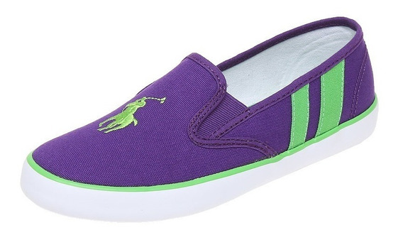 Tenis Polo Ralph Lauren Color Purple Nuevos Originales #25