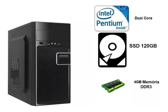 Pc Intel Pentium Dual Core / 4gb Memória / Ssd 120gb