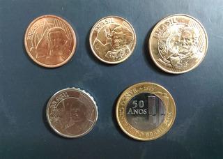 Coleccion 5 Monedas De Brasil Actuales