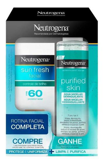Protet. Facial Neutrogena Sun Fresh 60+micelar Purified Skin